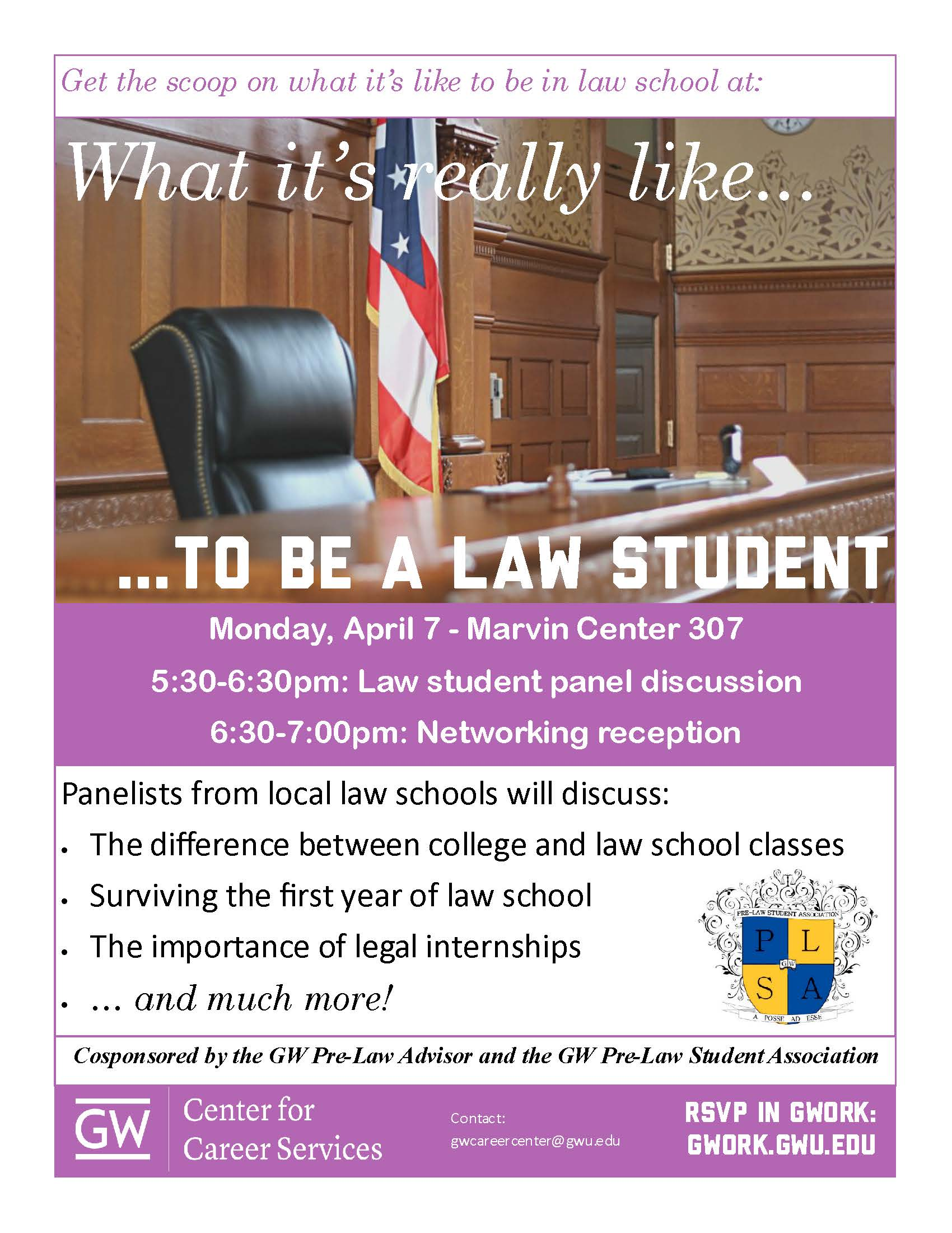 gwork dan s advising updates law school workshop flyer